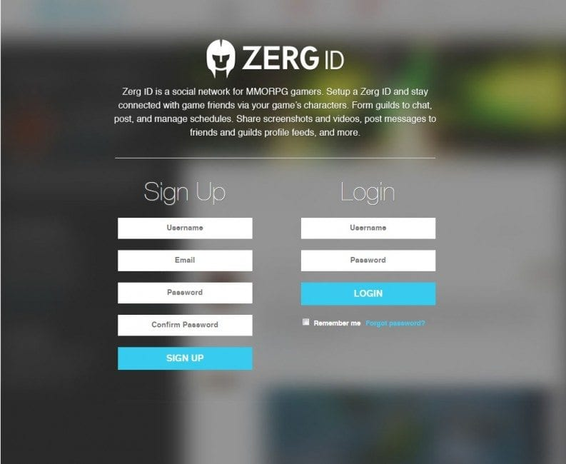 MMO Social Network ZergID Reaches Half Million Users