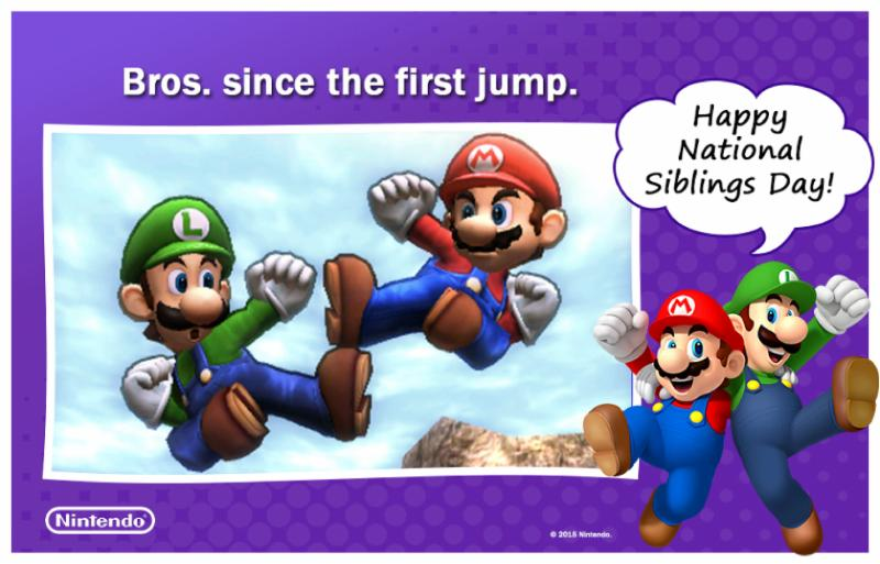 Celebrate National Siblings Day April 10 with Nintendo