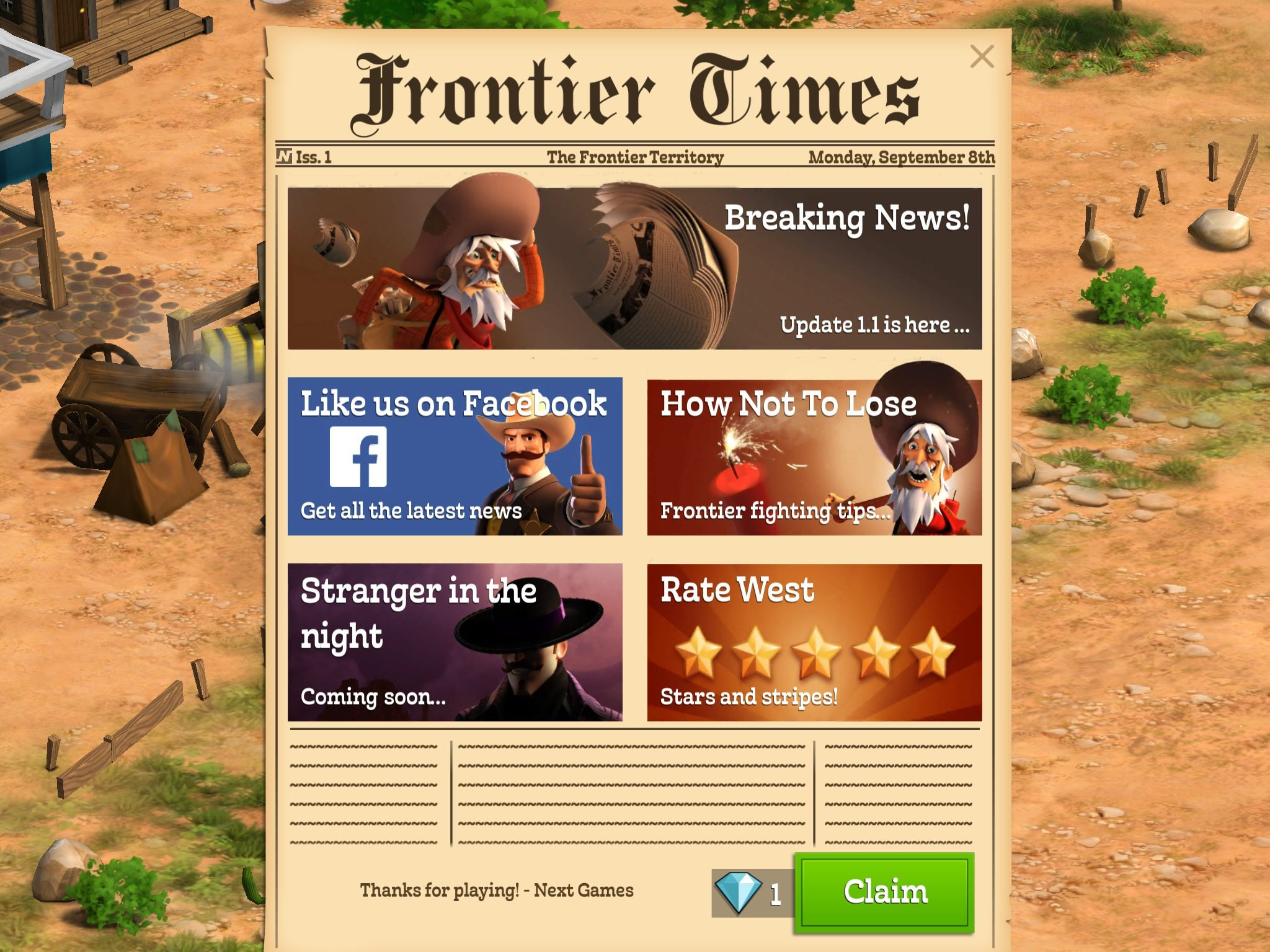 Compass Point: West First Update Adds the Newspaper