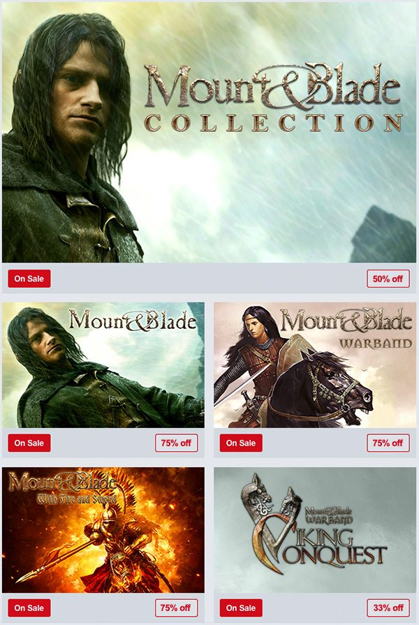 Humble Store Mount & Blade Weekend Sale