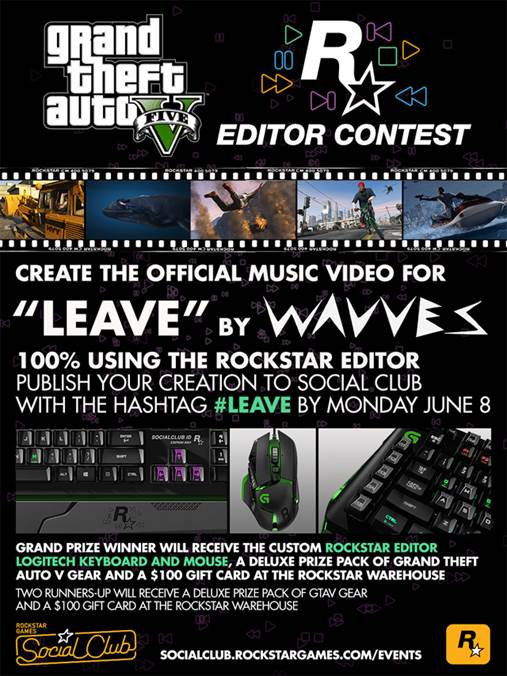 "Rockstar Editor Contest: Create the Official Music Video for ""Leave"" by Wavves"