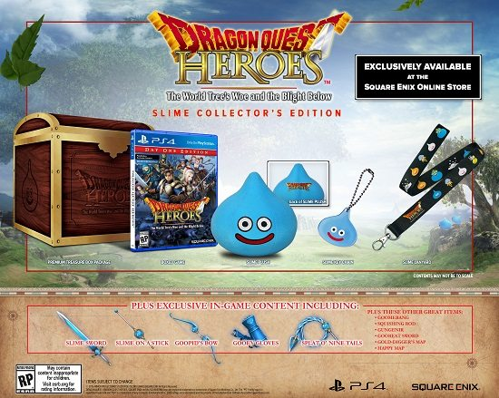 Dragon Quest Heroes Day One and Slime Collector Editions Detailed