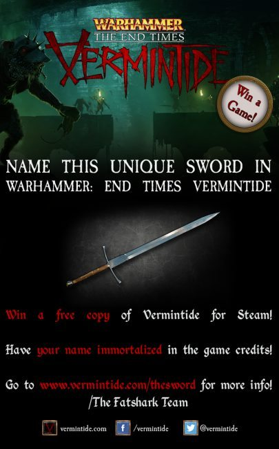 Help Name the Great Sword in Warhammer: End Times Vermintide