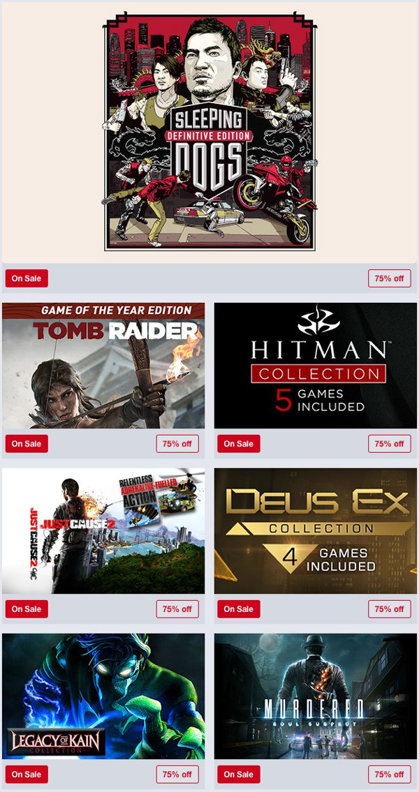 Humble Store Square Enix Weekend Sale