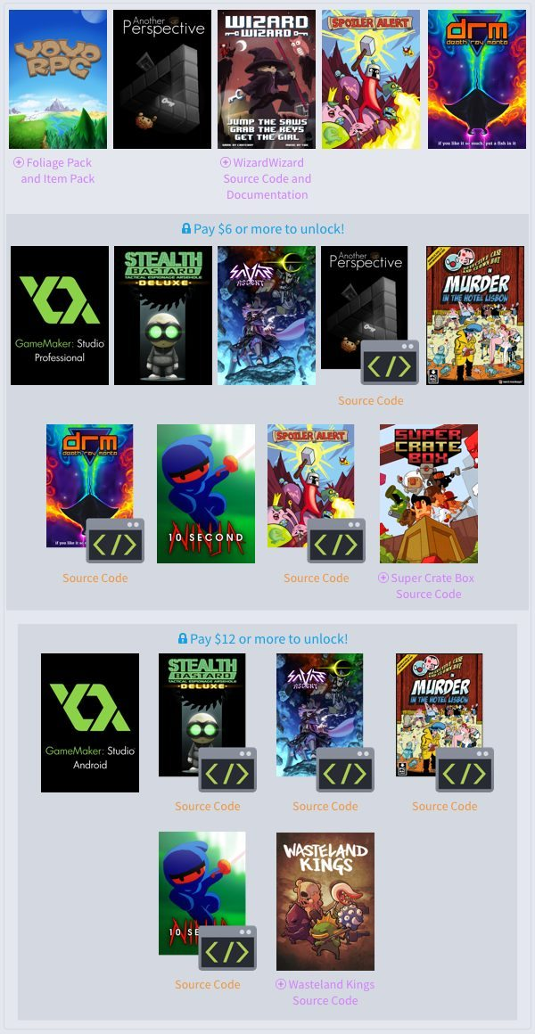 Humble Weekly Bundle Play and Create with GameMaker is Now Live