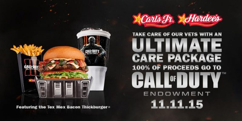 Carl's Jr. and Hardee's Announce Veteran's Day Promotion on Call of Duty: Black Ops III