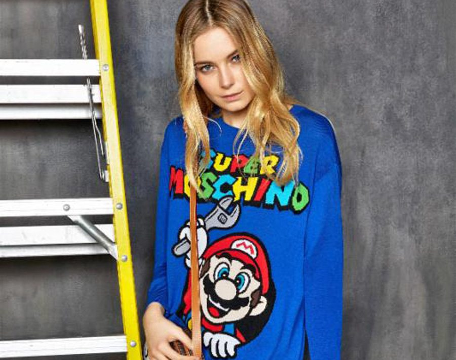 Super Moschino Nintendo Collection Gaming Cypher LARGE