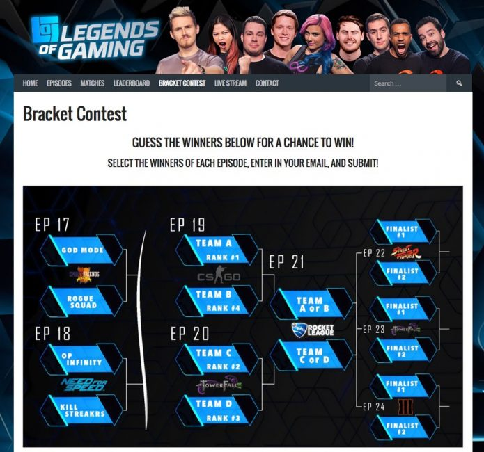 Legends of Gaming Launches Fantasy League