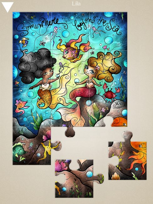Mandie Manzano Jigsaw Puzzle Art Has Launched Exclusively on iOS