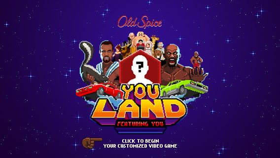Oldspice Youland Video Game Customized for You