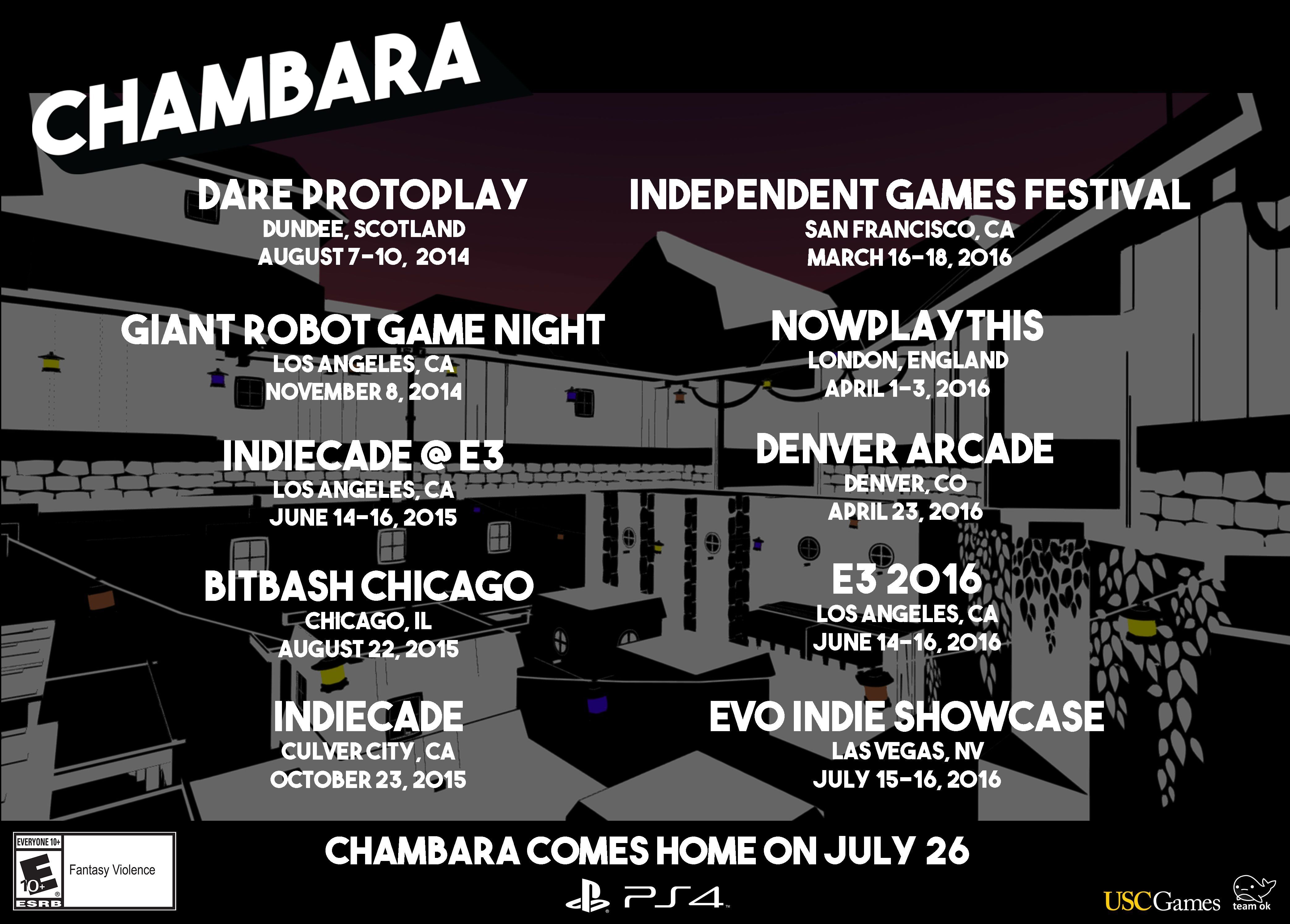 Chambara Launches on PS4 by USC Games