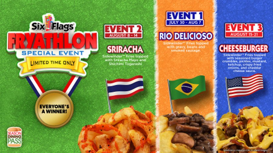 """Six Flags Celebrates Summer of Games with First-Ever """"Fryathlon"""""""
