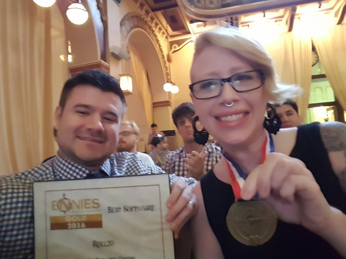 Roll20 is First Nominee to Win Gold ENnie Four Years in a Row