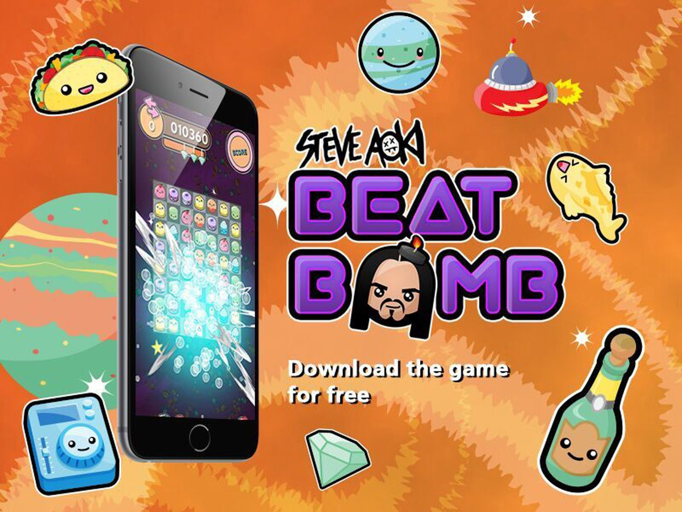 BEAT BOMB Mobile Game Released by World Renowned DJ STEVE AOKI
