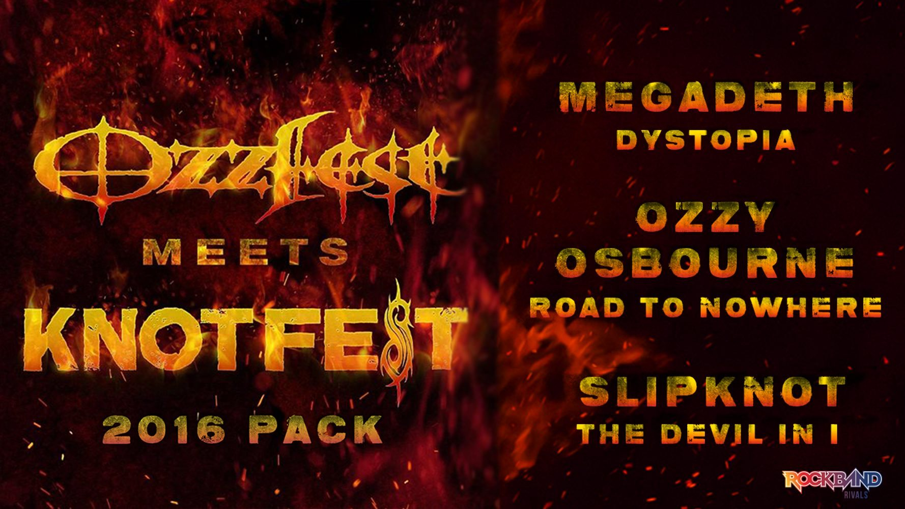 Rock Band 4 New DLC Pack Celebrating Ozzfest Meets Knotfest Sep. 20