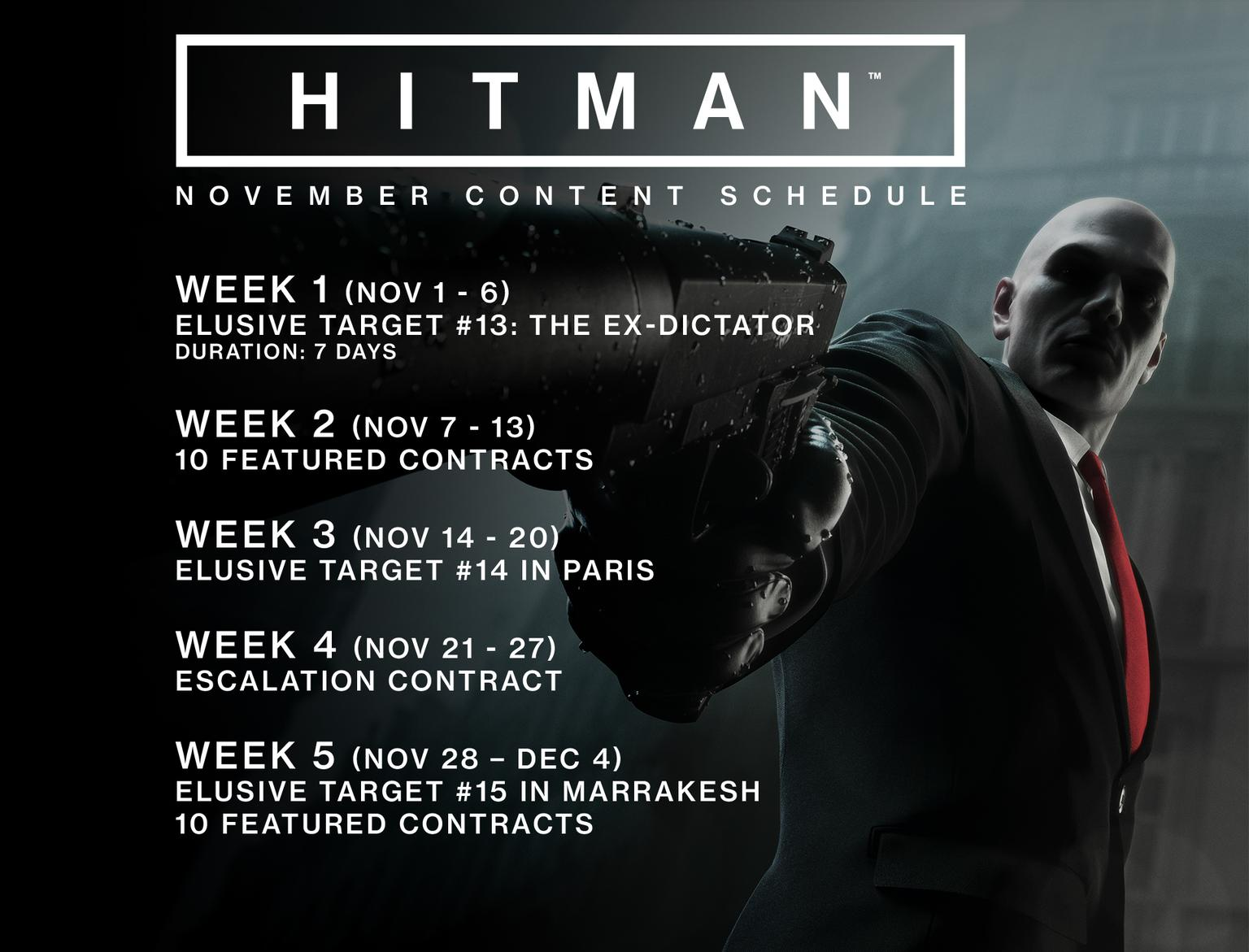 HITMAN November Update Introduces New Offline Profile