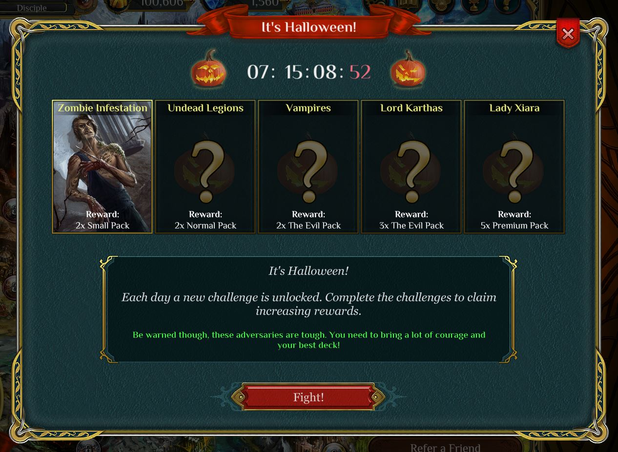 Spellweaver Halloween Challenges and New DLC Deck