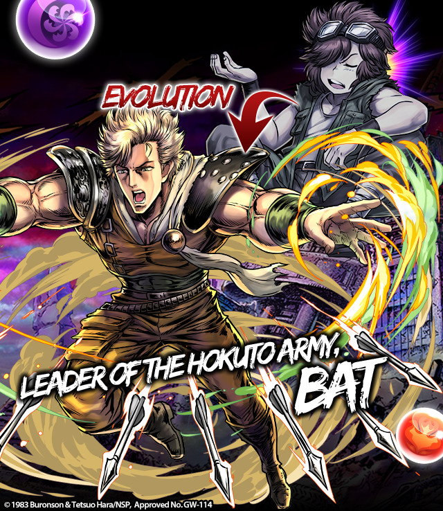 Fist Of The North Star First Series Characters: Fist Of The North Star Returns To PUZZLE & DRAGONS With
