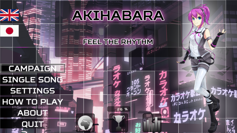 AKIHABARA Rhythm Game Now Available on Steam and Mobile