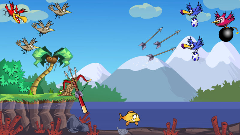 ARROWS & SPARROWS Mobile Slingshot Shooter Helps You Prevent Goldie from Becoming Bird Food