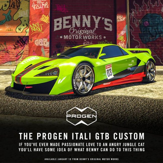 GTA Online Progen Itali GTB Custom Now Available