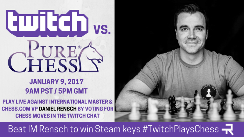 PURE CHESS Lets You Play Chess Against International Master Daniel Rensch Today Jan. 9