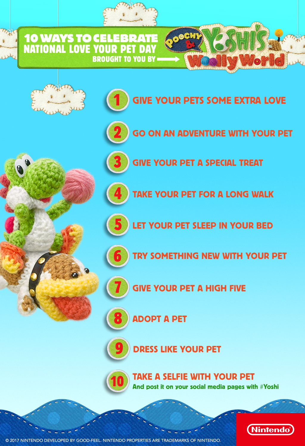 Poochy & Yoshi's Woolly World – National Love Your Pet Day Infographic