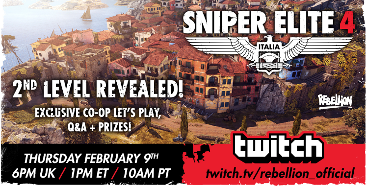 SNIPER ELITE 4 Second Level Revealed, Watch Twitch Livestream Today