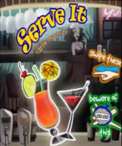 SERVE IT Action Packed Game Lets You Swipe from Behind the Bar Available Now for Mobile