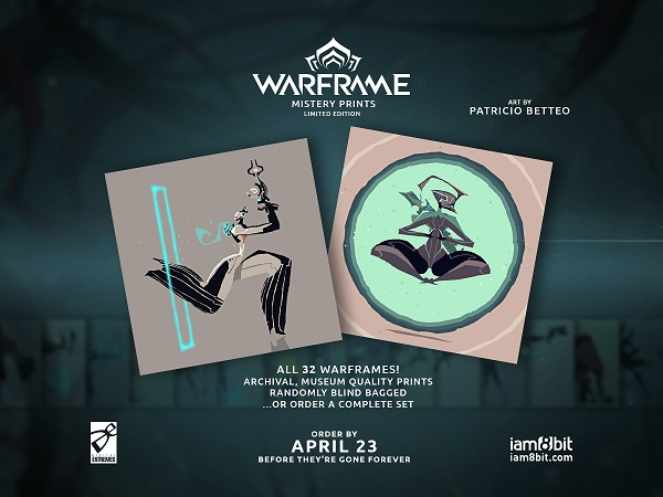 WARFRAME and iam8Bit Partner on Vinyl LP, Collectible Art Prints and More