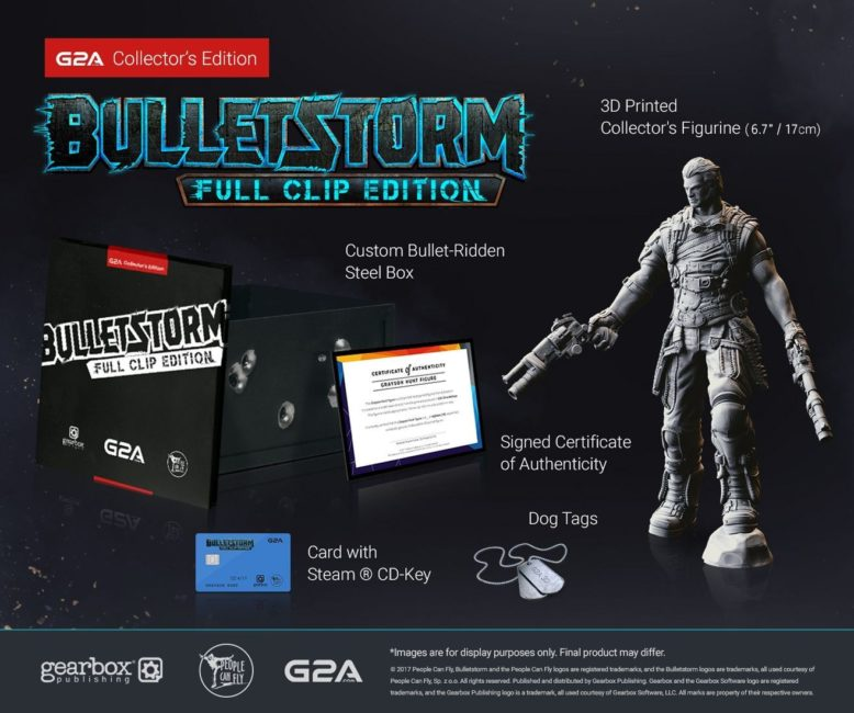 Gearbox Publishing and G2A.COM Team Up on Collector's Edition of Bulletstorm: Full Clip Edition