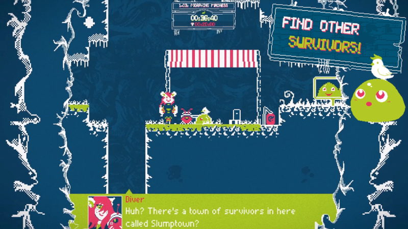 Slime-san Gooey Adventure Now Available on PC, Mac and Linux