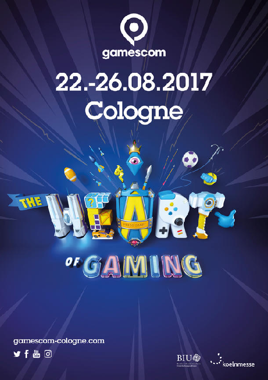 """gamescom """"The Heart of Gaming"""" is Starting 2017 with Versatility, Liveliness and Color"""