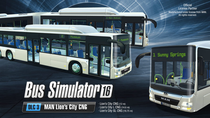 Bus Simulator 16: MAN Lion's City CNG DLC and Extensive Gold Edition Arriving Soon at Your Bus Stop