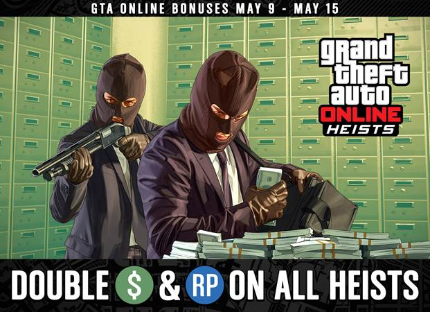 GTA ONLINE Double Heists Payouts, Extended Biker Bonuses and More