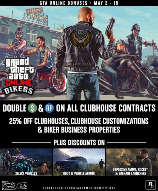 GTA Online Biker Bonuses, Vehicle Discounts and More
