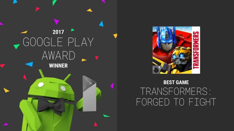 Transformers: Forged to Fight Named Best Game at 2017 Google Play Awards