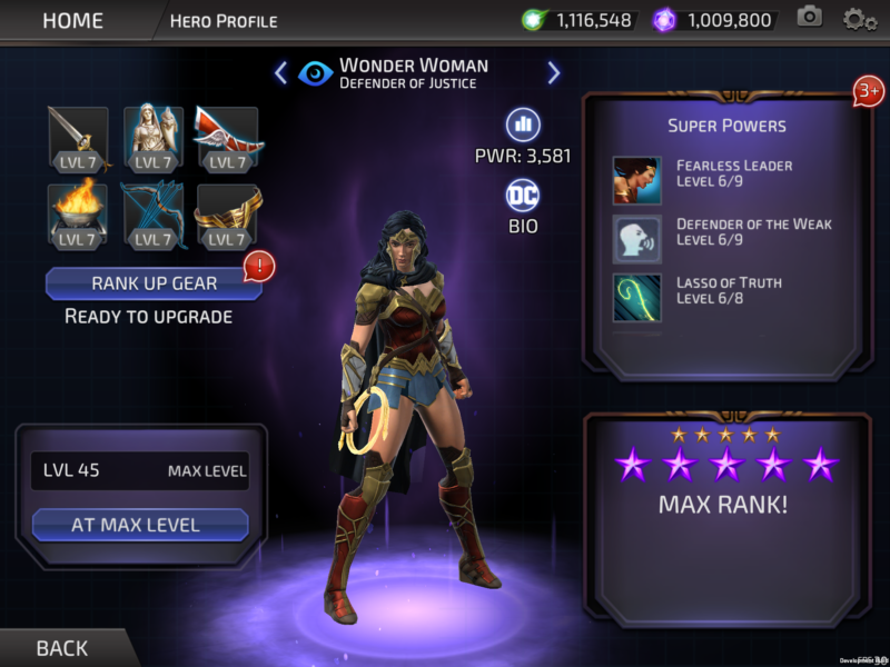DC Legends Adds New Wonder Woman Theatrical Content
