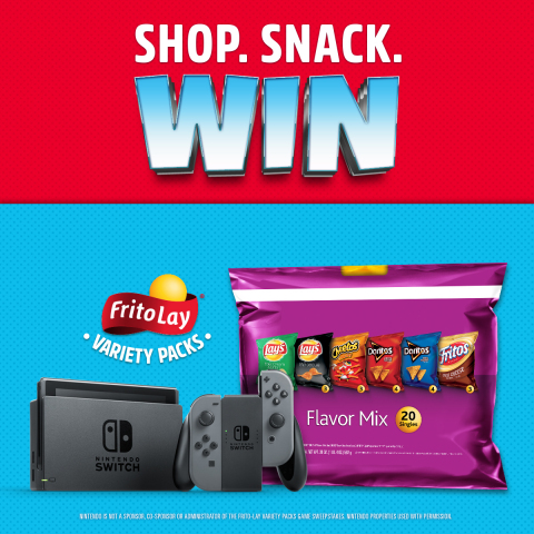 Frito-Lay's Variety Pack Gives Away One Nintendo Switch System and Game Every Hour for 6 Weeks