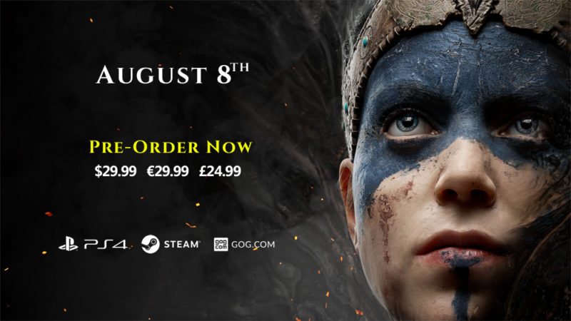 Hellblade Release Date and Pre-Order Announced by Ninja Theory