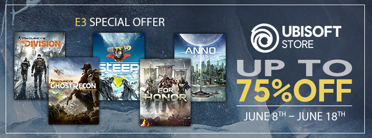 Ubisoft Starts E3 Celebrations with a Weekend of Free PC Games and Crazy Sales