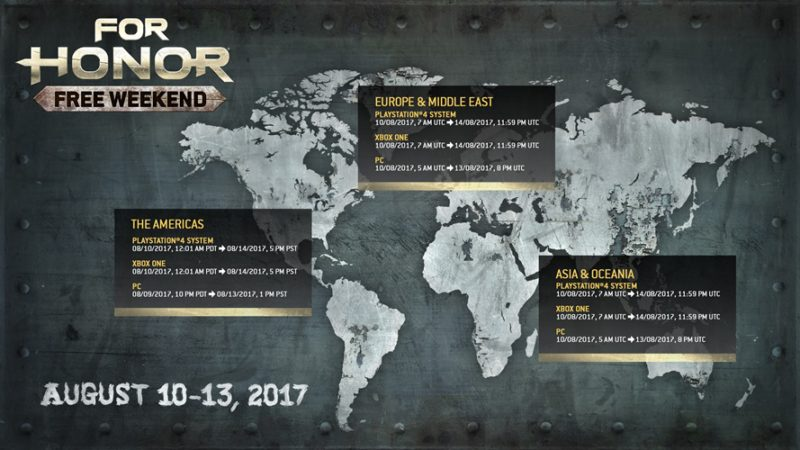 For Honor Free Weekend August 10-13 Lets You Join the Clash on All Platforms