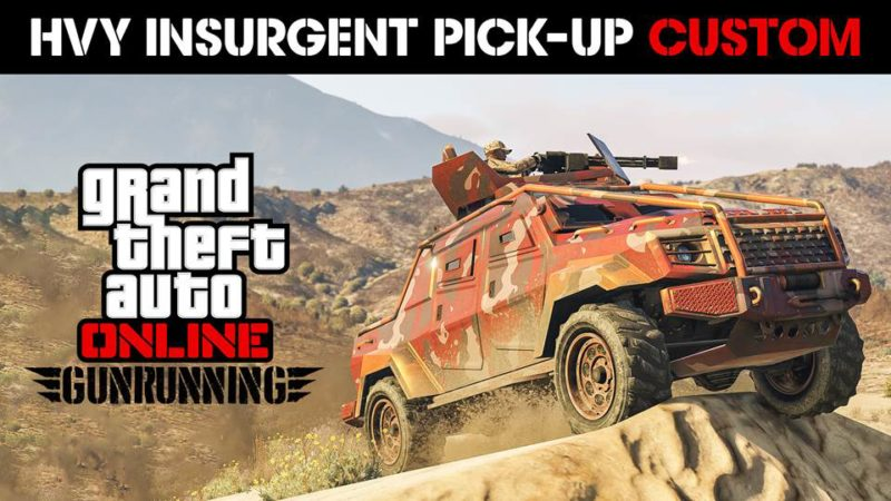 "<p style=""text-align: center;""></p> <strong><a href=""http://www.rockstargames.com/"" target=""_blank"" rel=""noopener noreferrer"">Rockstar Games</a></strong> is happy to announce another big week for Gunrunning and beyond in <em><strong>GTA Online</strong></em>, with many new additions including the <i>Insurgent Pick-Up Custom</i>; an armored, weaponized war machine variant of the HVY Insurgent Pick-Up, now available via upgrade in the Mobile Operation Center's Weapon & Vehicle Workshop, and exciting new bonuses including double GTA$ & RP rewards with the launch of any Mobile Operation Mission, and double GTA$ & RP payouts in both the latest Adversary Mode, <i>Power Mad</i> and fan-favorite mode, <i>Deadline.</i>           Related: <a href=""http://www.gamingcypher.com/gta-online-power-mad-adversary-mode-pegassi-torero-gunrunning-bonuses-weapons-discounts/"" target=""_blank"" rel=""noopener""><strong>GTA Online: Power Mad Adversary Mode, The Pegassi Torero, Gunrunning Bonuses, Weapons Discounts & More</strong></a>"