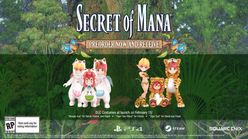 SECRET OF MANA Time Honored RPG Coming Next February in Full 3D