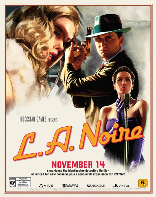 L.A. Noire New Versions Heading to Virtual Reality, Nintendo Switch, PS4, and Xbox One