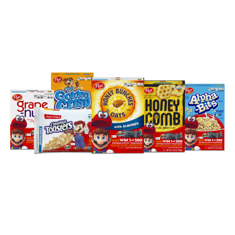 Nintendo and Post Consumer Brands Team Up for a 'Super' Cereal Promotion