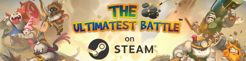 Real-Time Team-based 2D Wacky Competitive Arena Shooter THE ULTIMATEST BATTLE Now Out on Steam