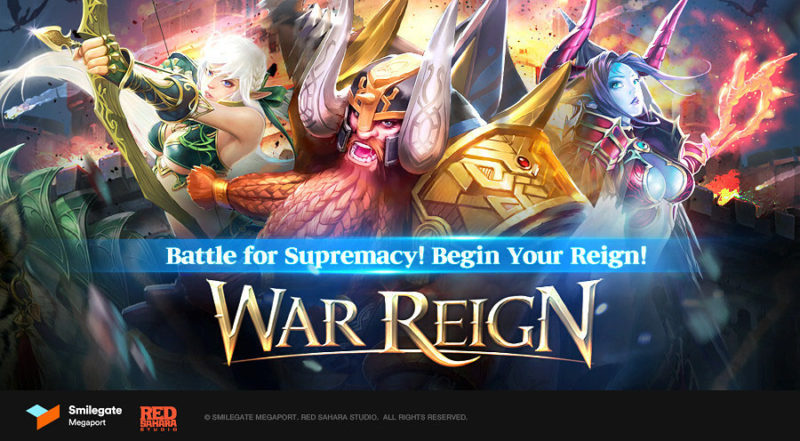 WAR REIGN Mobile Fantasy Strategy Game Pre-Registration Announced by Smilegate