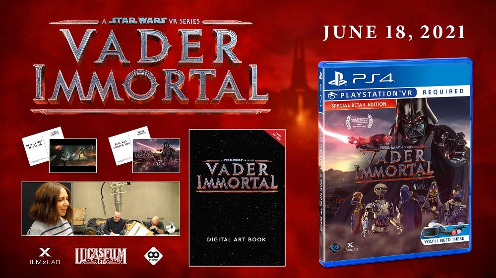 VADER IMMORTAL Special Retail Edition Hits PlayStation VR Retail June 18